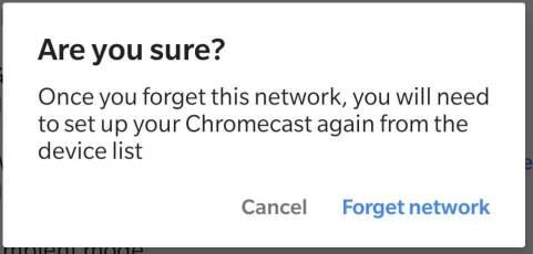 Changer le réseau Wifi Chromecast