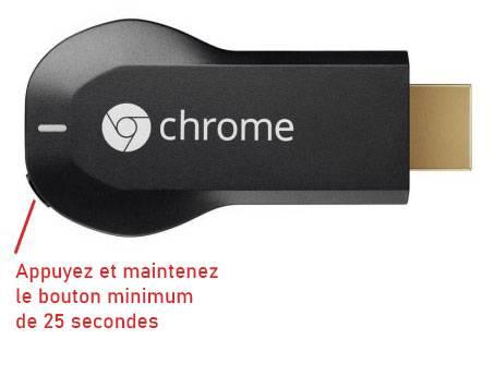 réinitialiser Chromecast