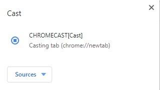 ordinateur avec Chromecast