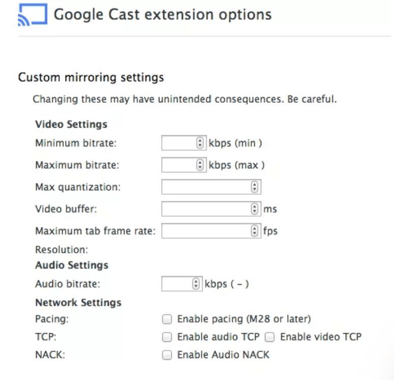décalage de Chromecast